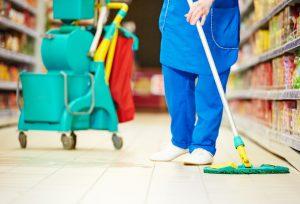 Female cleaner worker