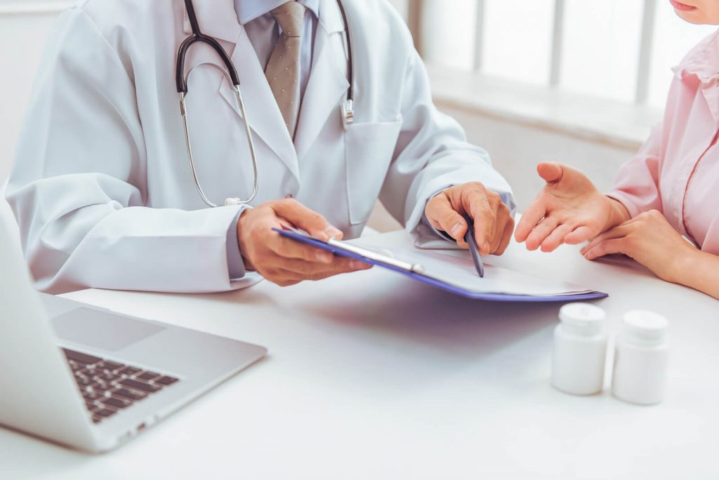 Woman At Doctors