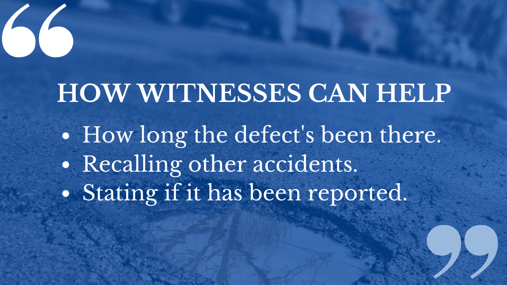 A pavement trip compensation claim can be strengthened if you act quickly.