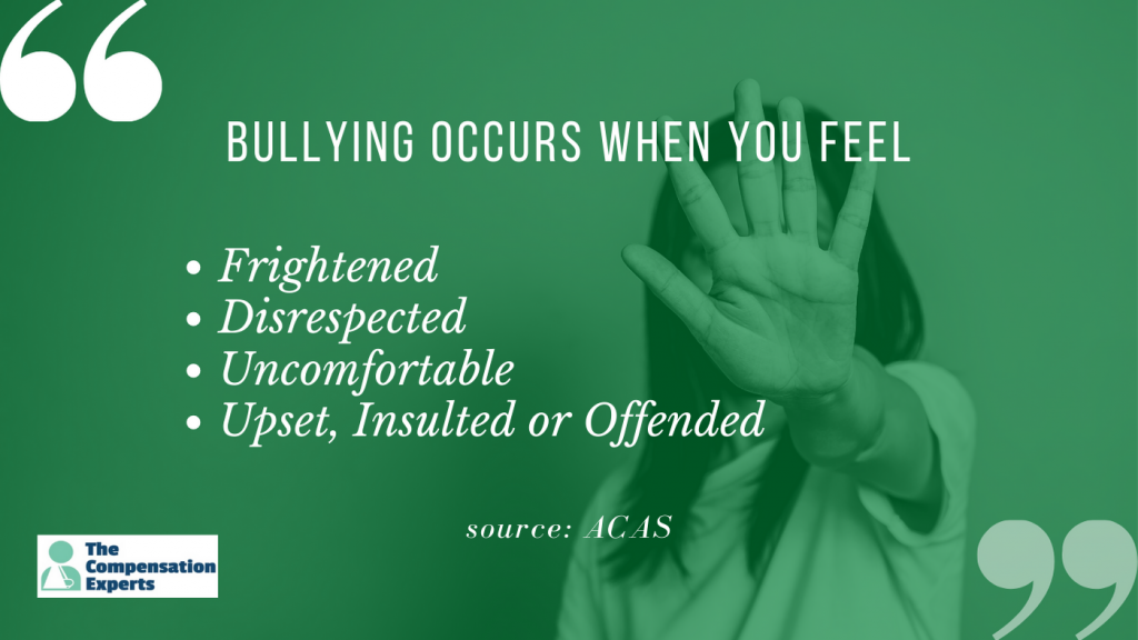 Work stress claims include incidents of bullying or violence.