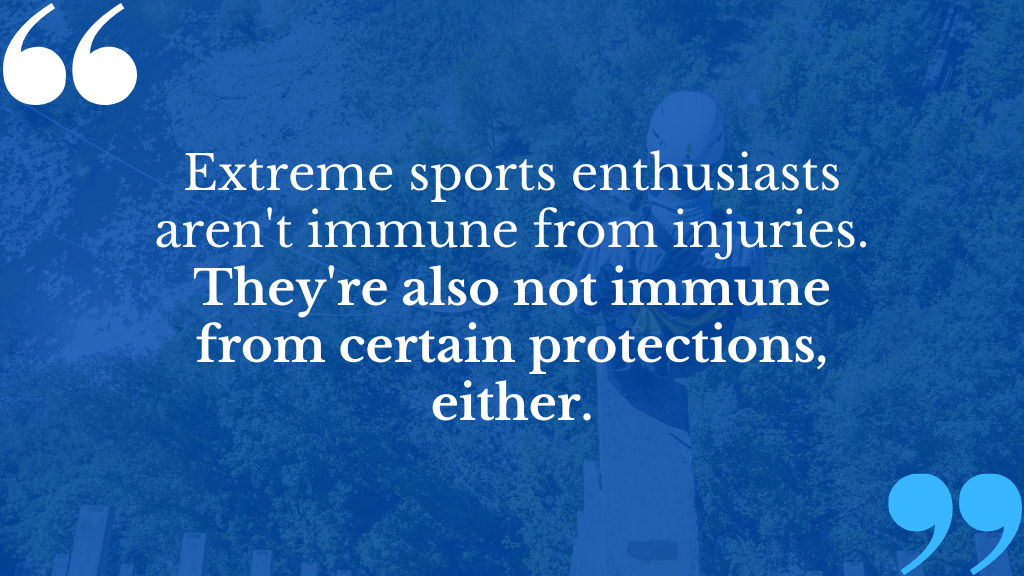 For extreme sports accidents or adventurous training injury claims, The Compensation Experts can help