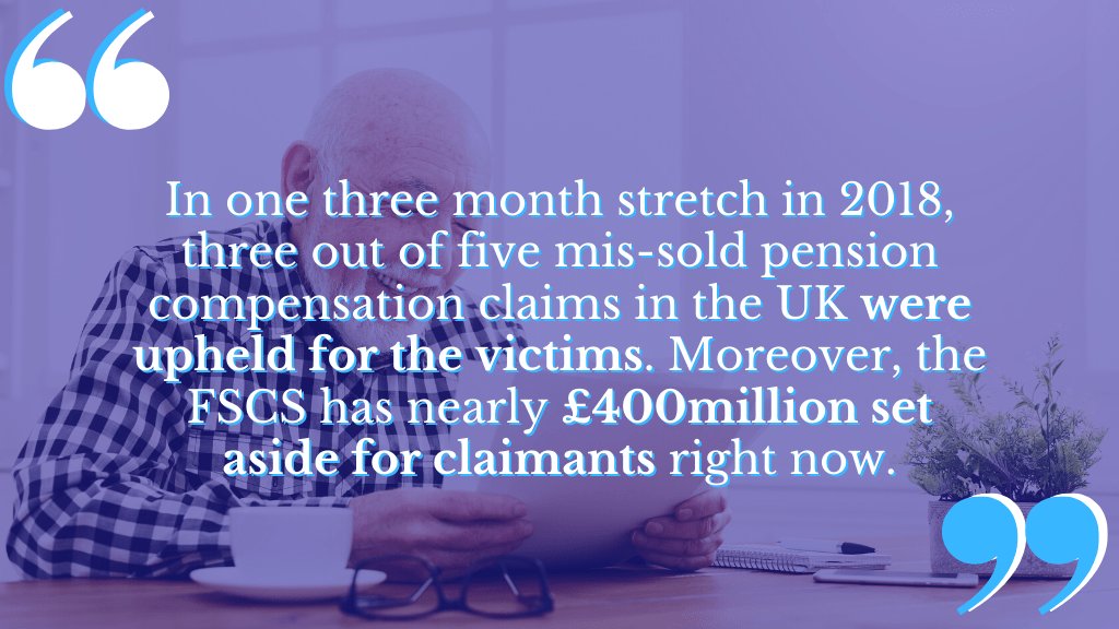 There's a lot of money at stake with mis-sold pension compensation claims.