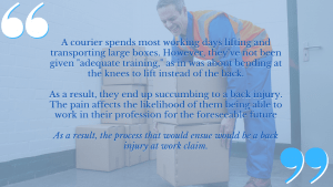 We work with work accident lawyers and experts