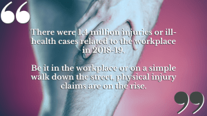 We work with solicitors that specialise in physical injury claims