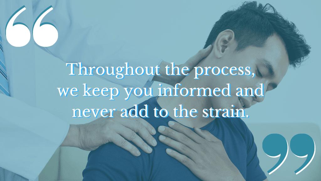 Shoulder injury compensation claim